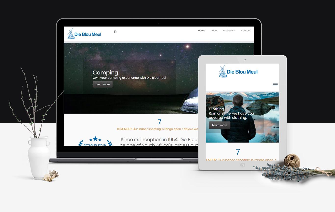 Die Blou Meul Website Design Portfolio Carter and Prince